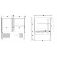 Combisteel Koelwerkbank Compact Line | 1 deur en 2 lades | (H)87,5x(B)90x(D)70