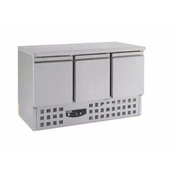 Koelwerkbank Compact Line | 3 deurs | (H)87,5x(B)136,5x(D)70