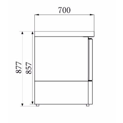 Combisteel Koelwerkbank Compact Line | 1 deur | (H)87,5x(B)43,5x(D)70