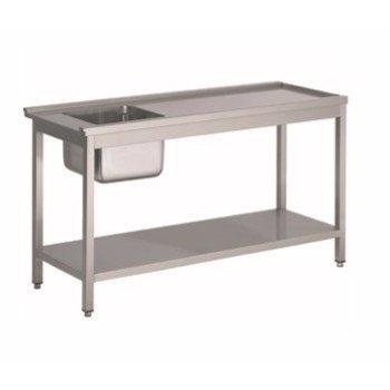 Voorspoeltafel - 120cm - rechts