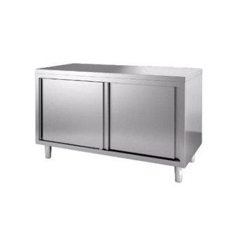 Werktafel met deuren | Chef Line | (H)85x(B)200x(D)60