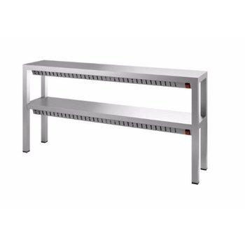RVS verwarmde étagère  dubbel | Chef Line | (H)65x(B)140x(D)30