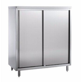RVS hoge kast | 4 planken | Chef Line | (H)200x(B)200x(D)60