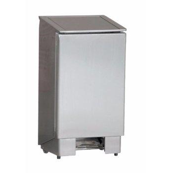 RVS pedaal afvalbak | professional |60L | (H)80x(B)37x(D)40