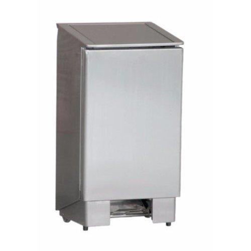 RVS pedaal afvalbak | professional | 90L | (H)91x(B)39,4x(D)36,5