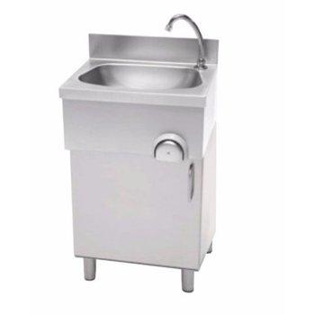RVS handen wasbak kniebediening | staand model | (H)85x(B)50x(D)40