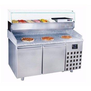 Pizzawerkbank | Pro Line | 2 deurs | (H)108x(B)155x(D)80
