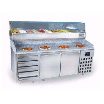 Pizzawerkbank | Pro Line | 2 deurs en lades | (H)108x(B)210x(D)80