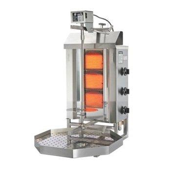 Döner gyros grill G1 | op gas | 15kg vlees | 340mm hoog