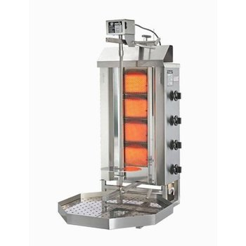 Döner gyros grill G2 | op gas | 30kg vlees | 470mm hoog