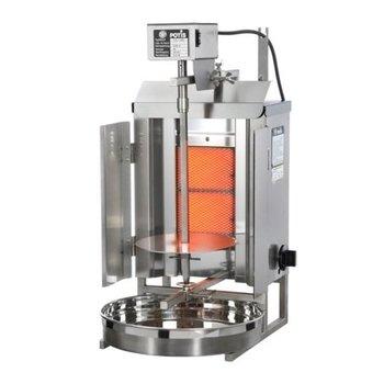 Döner gyros grill GD1 | op gas | 7kg vlees | 180mm hoog