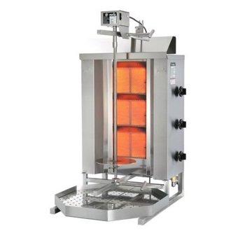Döner gyros grill GD3 | op gas | 40kg vlees | 450mm hoog