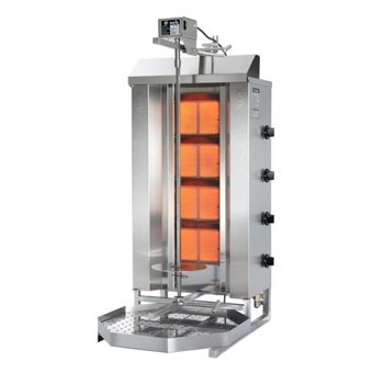 Döner gyros grill GD4| op gas | 70kg vlees | 630mm hoog