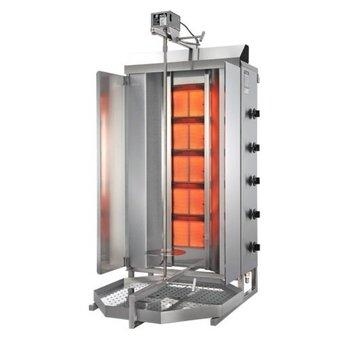 Döner gyros grill GD5 | op gas | 140kg vlees | 810mm hoog