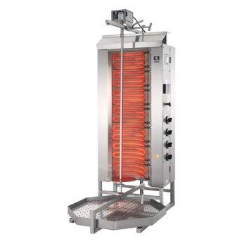 Döner gyros grill E4-S | elektrisch | 80kg vlees | 820mm hoog