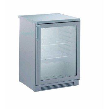 Koelkast Alpeninox | wit staal | glazen deur | (H)85x(B)60x(D)63,7