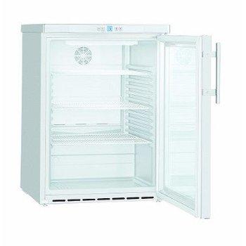 Koelkast glazen deur | wit staal | 141L | (H)83x(B)60x(D)61,5