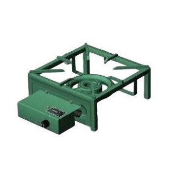 Wok kookbrander pro-35 (H)15cm x 35cm x 35cm - Gemoffeld staal - Aardgas