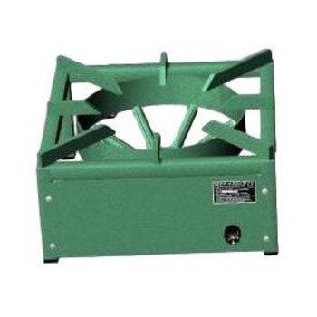 Wok kookbrander pro-40 (H)21cm x 40cm x 40cm - Gemoffeld staal - Aardgas