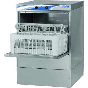 Glazenspoelmachine | 40x40cm | met afvoer en zeepdoseerpomp | (H)71x(B)47x(D)51