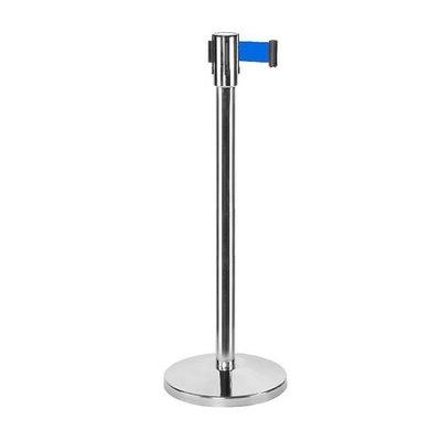 Afzetpaal met koord | Easy serie | RVS 180cm | blauw