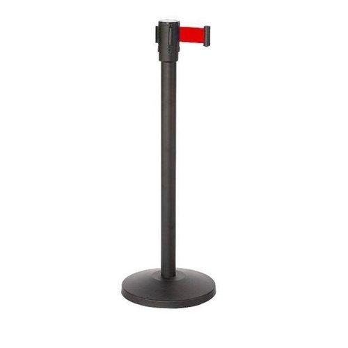 Afzetpaal met koord | Easy serie | kunststof 180cm | rood