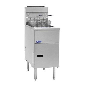 Friteuse gas | SG14S Solid State | Aardgas | 32kW | Olie 18-23kg | 60kg/u | (H)86,4x(B)39,7x(D)86,4