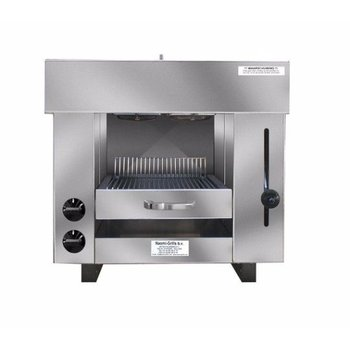 Pita en kapsalon grill oven | Gas | 2 branders | (H)60x(B)65x(D)43