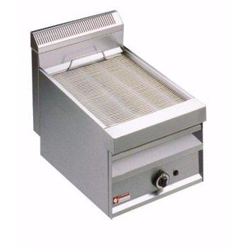 Stoomgrill - gas - enkel met bakrooster - 380x470mm