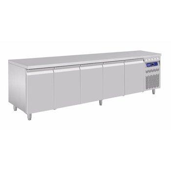 Koelwerkbank 1/1GN | 5 deurs | 700L | (H)85/90x(B)262,5x(D)70