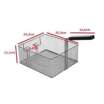 Losse frituurmand vierkant - 8 liter - 25,3 x 23,3 x (H) 11,1cm