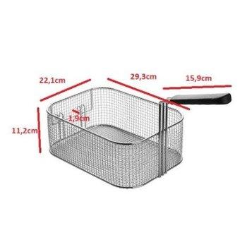 Losse frituurmand ovaal - 10 liter - 29,3 x 22,1 x (H) 11,2cm
