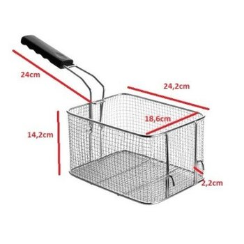 Losse frituurmand ovaal - 8 liter - 24,2 x 18,6 x (H) 14,2cm