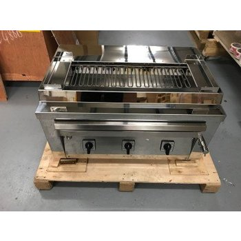 Professionele saté grill | rookvrij | 3 hitte elementen | 400V elektrisch