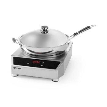 Set inductie woktoestel 3500W + wokpan