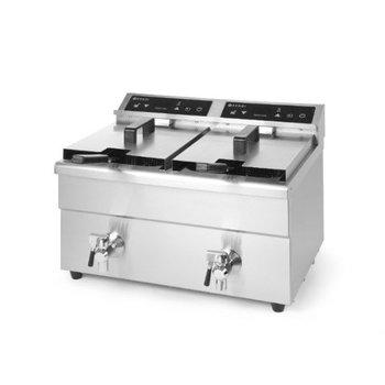 Inductie friteuse Kitchen Line - 8+8 liter