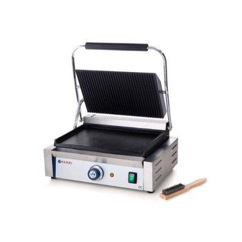 Contactgrill panini | gegroefd/glad | 2,2kW | (H)21x(B)43x(D)37