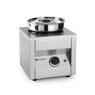Bain marie met ronde pot - Ø185mm - 4,2 liter
