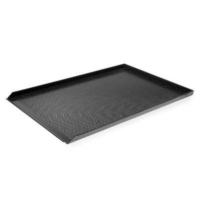 Aluminium tray met teflon - geperforeerd - 60x40cm