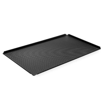 Aluminium tray met teflon - geperforeerd - 1/1GN