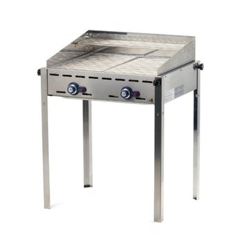 Barbecue Green Fire - 2 branders - met 2x 1/1GN rvs roosters