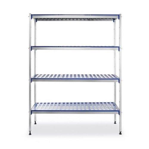 Hendi Aluminium opbergrek - polypropeen planken - (H)168,5x(B)128x(D)40,5