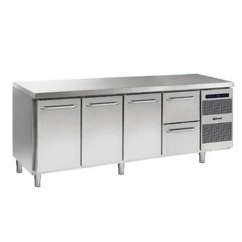 Koelwerkbank Gastro K 2207 CSG A DL/DL/DL/2D L2 - 1/1 GN