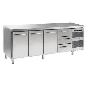 Koelwerkbank Gastro K 2207 CSG A DL/DL/DL/3D L2 - 1/1 GN