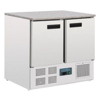 Koelwerkbank met marmer blad | 2 deurs | 240L | (H)88x(B)90x(D)70
