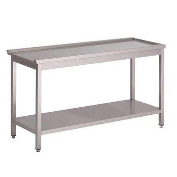 Aan/afvoertafel Gastro M - voor 50x50 korven - 80cm