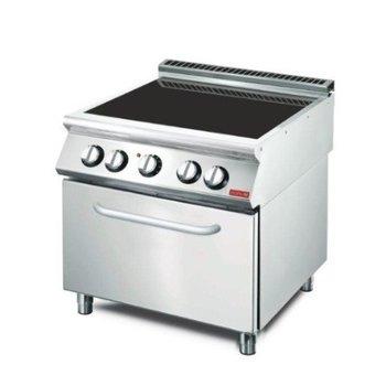 Keramisch fornuis Gastro M 700 | 4 zones | met oven | (H)85x(B)80x(D)70