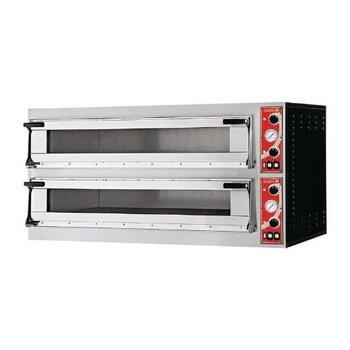 Pizza oven | 2x 6 pizza's | Ø35cm | 400V | 18kW | (H)86,5x(B)136x(D)95,4