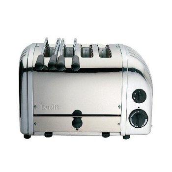 Combi brood/tosti toaster - 4 sleuven met 2 klemmen