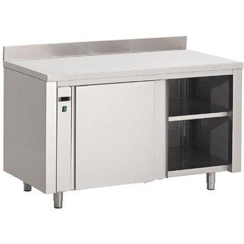 RVS warmhoudkast Gastro M - met spatrand - (H)85x(B)160x(D)70